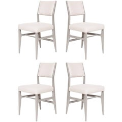 Set of Four Maze Lacquered Dining Chairs