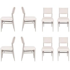 Set of Eight Maze Lacquered Dining Chairs