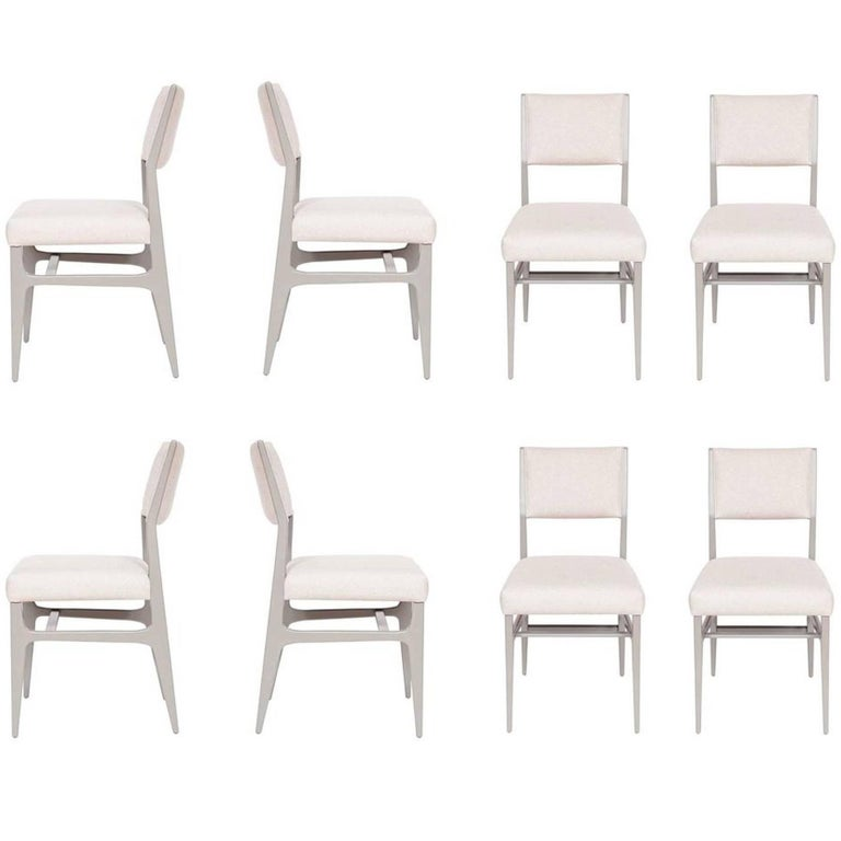 Set of Eight Maze Lacquered Dining Chairs For Sale