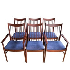 Set of Six Arne Vodder Model 422 Rosewood Dining Chairs for Sibast