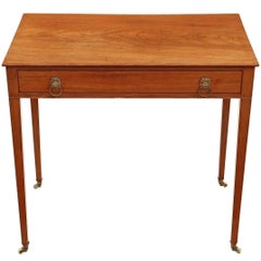 Antique Victorian circa 1850 Inlaid Mahogany Writing Desk or Dressing Table