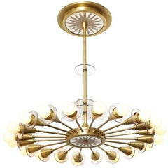 The Odom Twenty-Light Mirrored Sunburst Ceiling Fixture