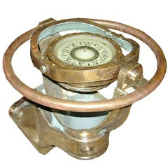 Ship Compass on Brass Stand