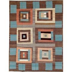 Modern Persian Flat-Weave Kilim