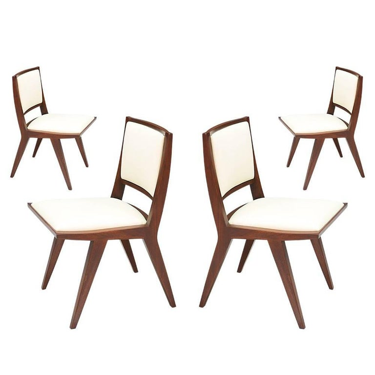 Set of Six Rare Dan Johnson Dining Chairs for Hayden Hall Furniture