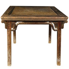 Chinese Eight Immortals Puddingstone Table