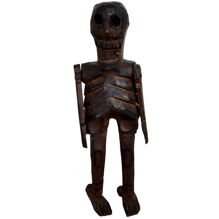 Articulating Wood Skeleton Santo