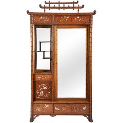 Faux Bamboo Armoire