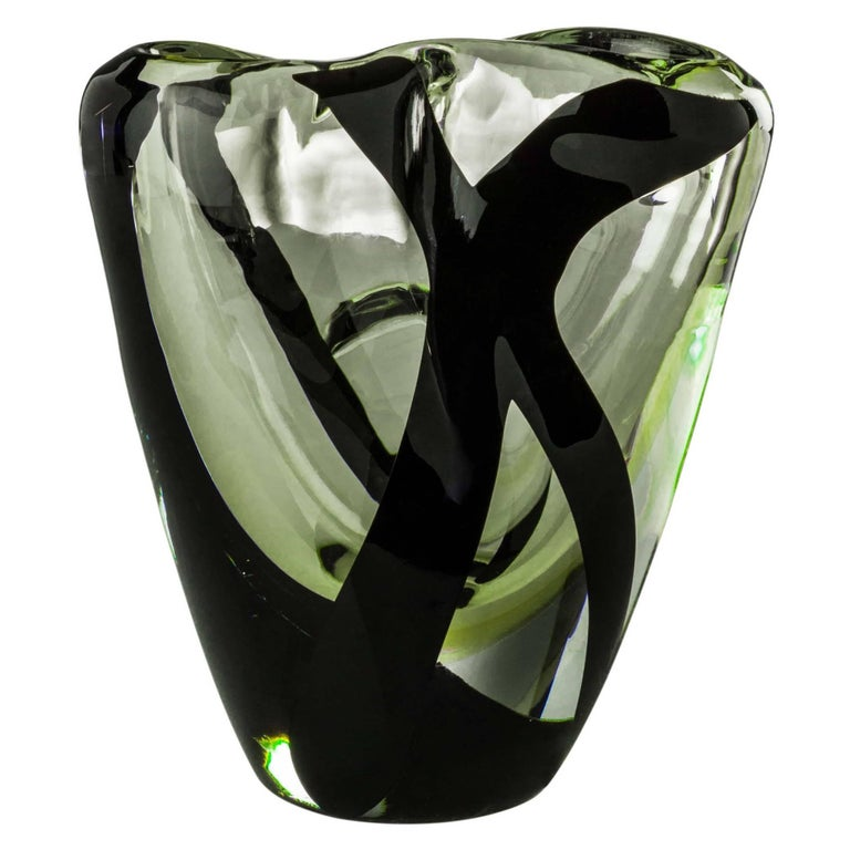 Medium Otto Vase from the Black Belt Collection by Peter Marino & Venini