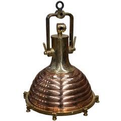 Brass Fluted Cargo Light