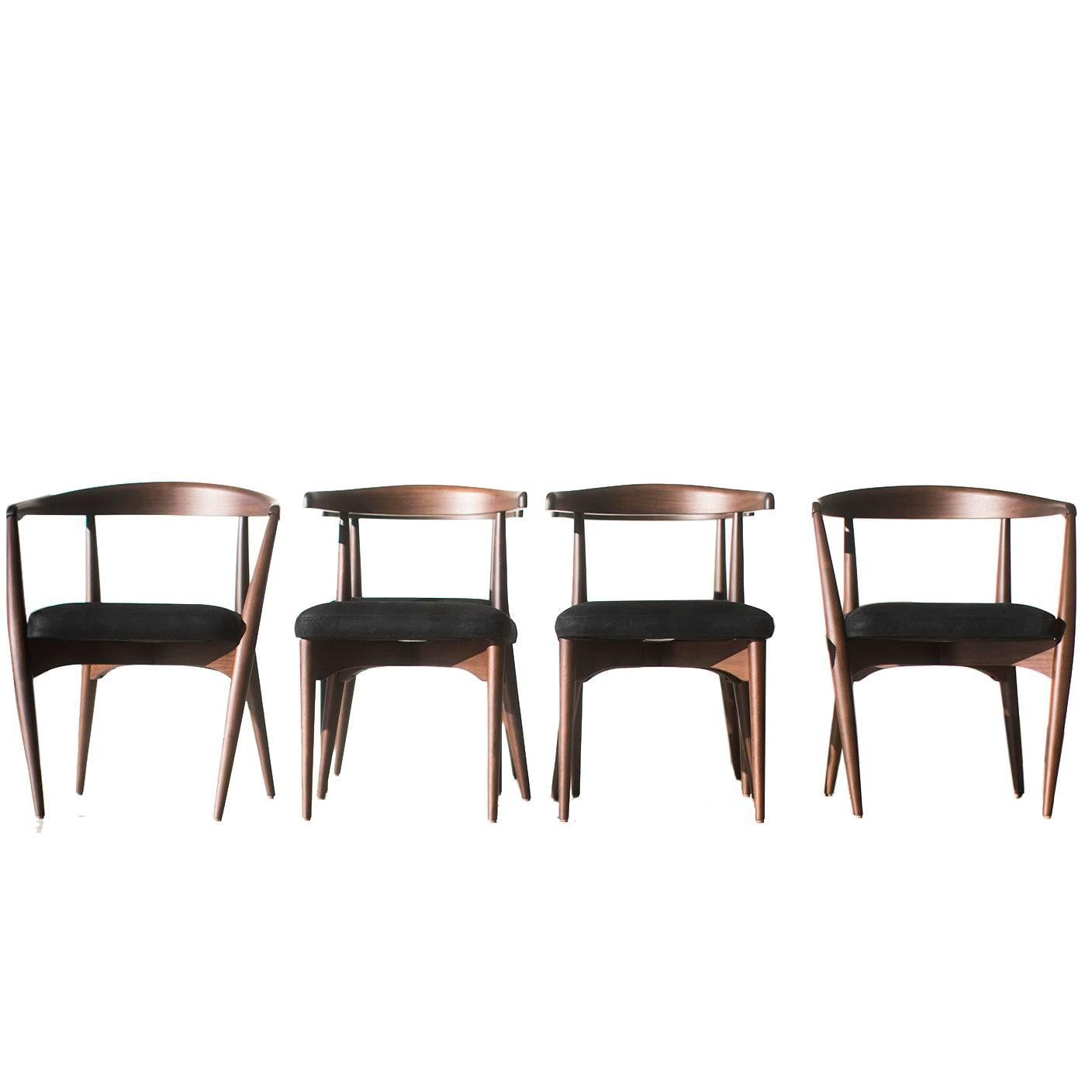 Lawrence Peabody Dining Chairs For Craft Associates