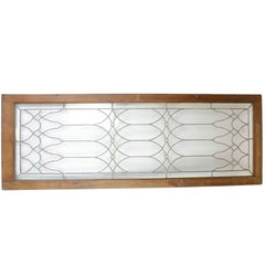 Victorian Leaded Glass Transom Window