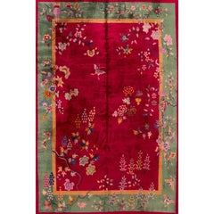 Early 20th Century Red Chinese Nichols Rug