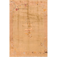 Early 20th Century Tan Chinese Art Deco Rug