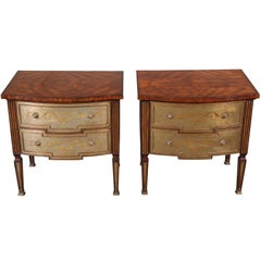 Pair of Fine Decorated Theodore Alexander Side Tables