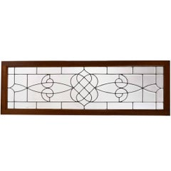 Victorian Transom Window with Beveled Glass