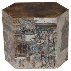 "Phillip Laverne ""Chan"" Bronze Hexagonal Occasional Table"