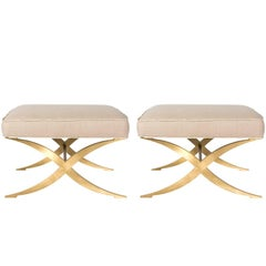"Pair of Jan Showers ""Claudette"" Benches"