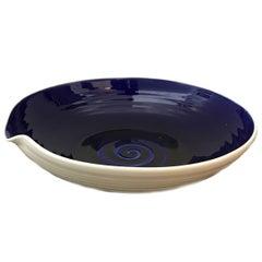 Hand-Thrown Israeli Artisan Shallow Studio Pottery Bowl