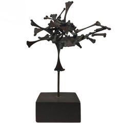 """Symbol IV"", 1960s Abstract Brutalist Metal Sculpture by John Risley"