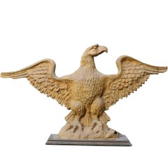 Late 18th Century Gold Painted Papier Mâché Eagle