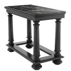 Harth Medium Console Table in Solid Mahogany Wood with Marble Top