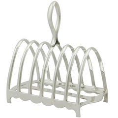 1920s Antique Sterling Silver Toast Rack by Walker & Hall