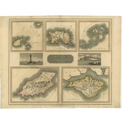 Antique Map of the British Islands by J. Thomson, 1817