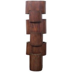 1970s Wood Sculpture by José Zanine Caldas