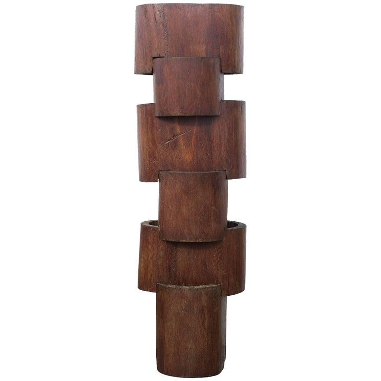 1970s Wood Sculpture by José Zanine Caldas