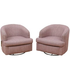 Pair of Thayer Coggin Club Chairs