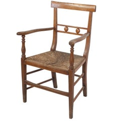 Provincial French Fruitwood Armchair, circa 1830