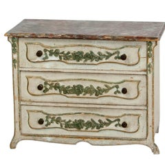 Miniature Italian Painted Chest of Drawers, circa 1870