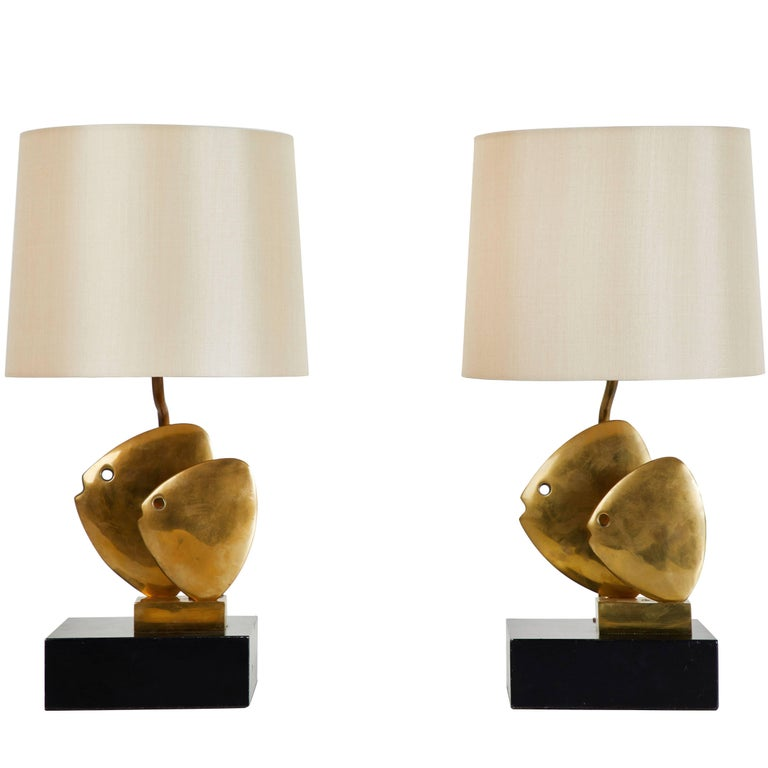 Pair of French Table Lamps For Sale