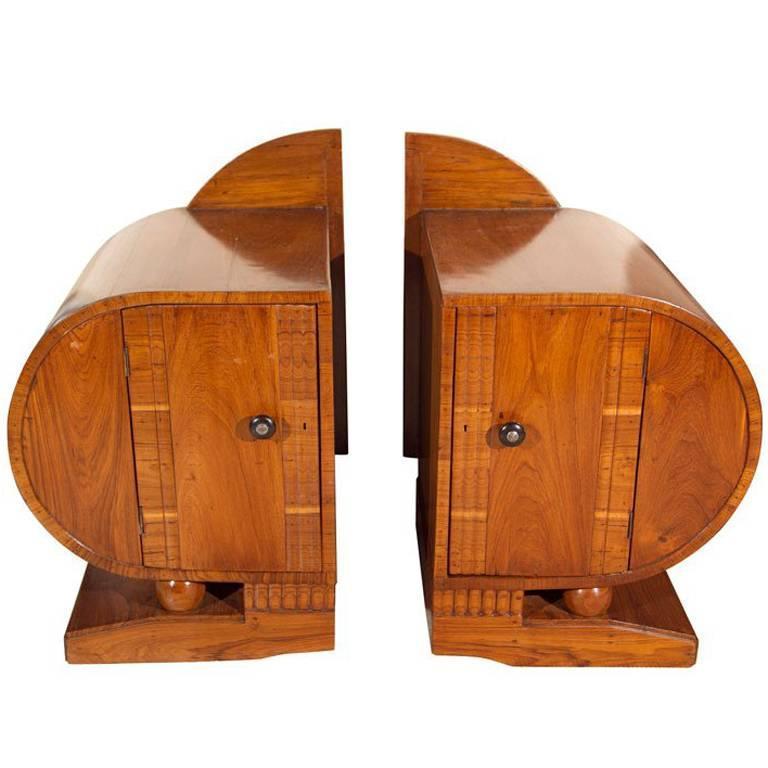 Pair of Art Deco Period Teak Side Tables
