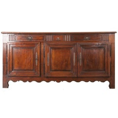 French 19th Century Transitional Walnut Enfilade