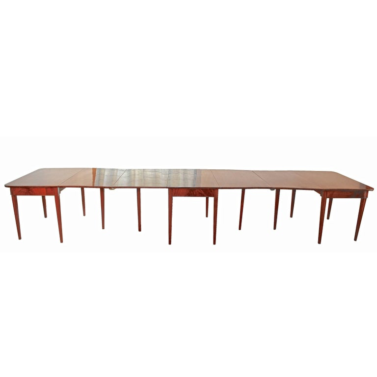 American Centennial Mahogany Banquet Table For Sale