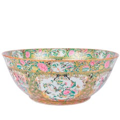 Large Canton / Rose Medalion Bowl, 19th Century