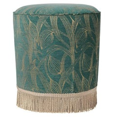 20th Century Unique Poufs in a Wide Variety of Upholstery