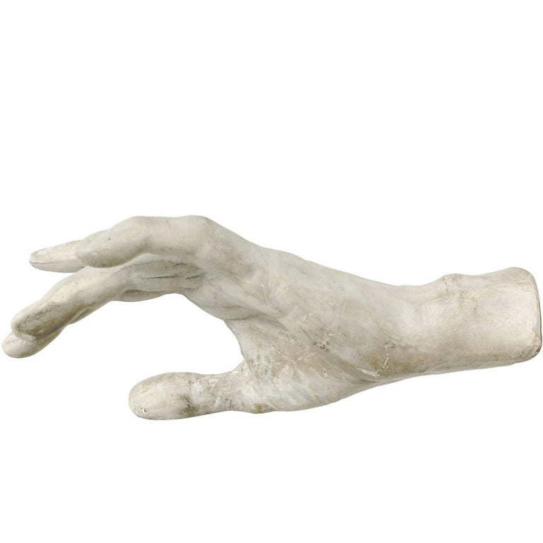 Academic Cast of Plaster Depicting a Hand, Italy, circa 1890