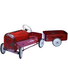 English 'Duke' Childs pedal Car by Triang with Tri Trailer