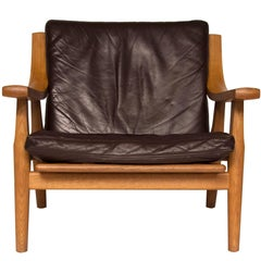 Hans Wegner GE530 Oak and Leather Lounge Chair