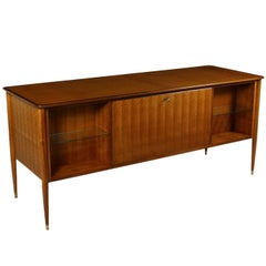 Furniture by Paolo Buffa for Arrighi Stefano Mahogany Veneer Vintage, 1950s