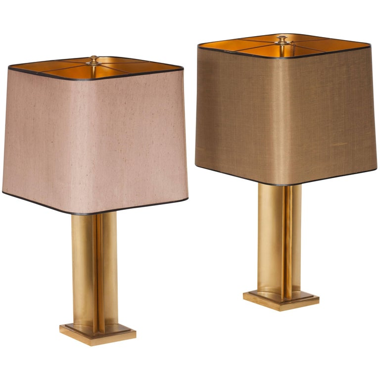 19th century regency brass table lamps by maison jansen at 1