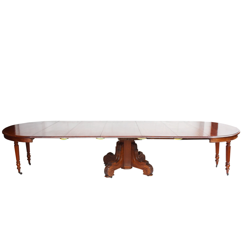 19th Century William IV Mahogany 16 Seat Dining Table