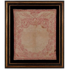 Exceptional 1821 Printing of the Declaration of Independence on Cloth