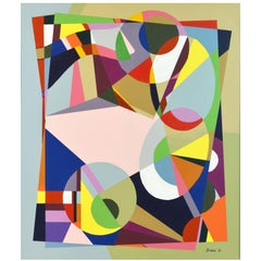 Large Contemporary Abstract by Sinai M. Waxman, Well Exhibited American Artist