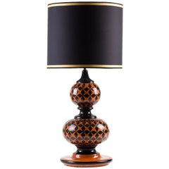 Ginger Lamp with Black Stars