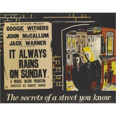 """It Always Rains on Sunday,"" British Film Poster"