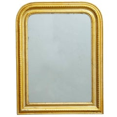 Large Arched Louis Philippe Mirror with Gold Gilt Frame, circa 1850s